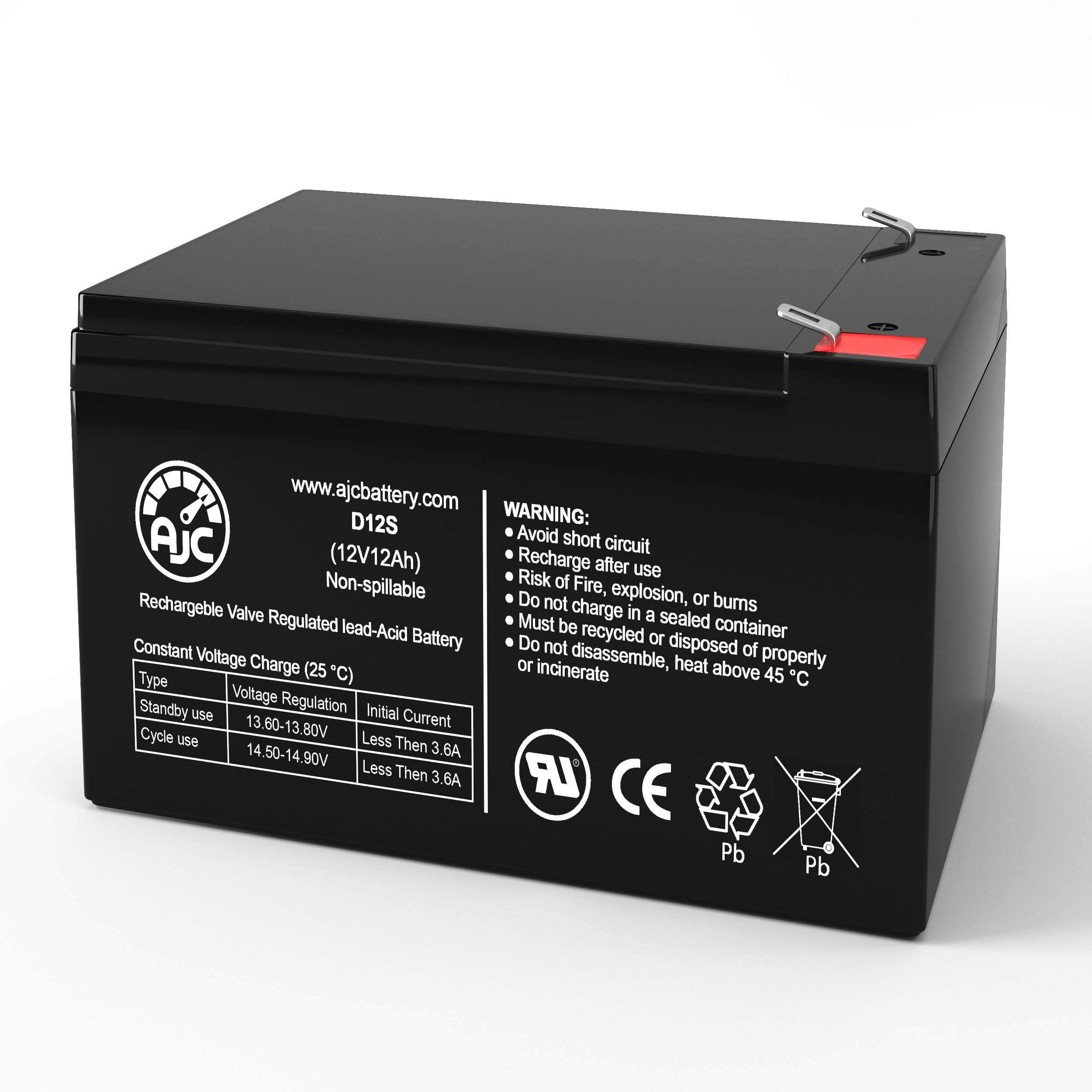This is an AJC Brand Replacement MK ES12-12 12V 12Ah UPS Battery