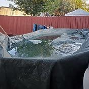 Amazon.com: Cobertor de piscina ovalado por encima del nivel ...