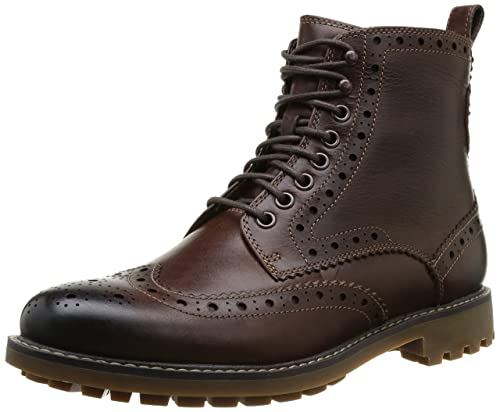 Clarks Mens Montacute Lord Boots Brown 9 UK