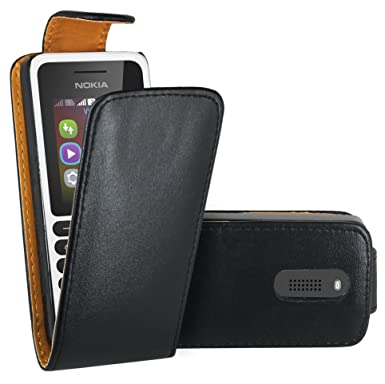 sale retailer edd5d 72dad Nokia 130 Case, FoneExpert® Premium Leather Flip Book Case Cover For Nokia  130 / Nokia 130 Dual Sim