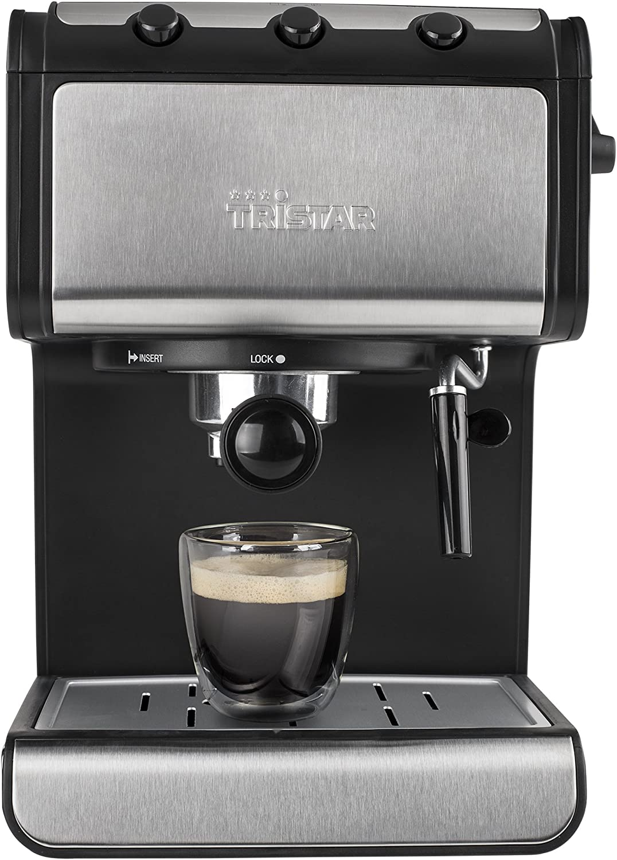 Tristar CM-2273 Cafetera Espresso, 850 W, 1 Liter, Negro, Acero ...