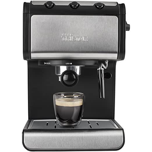 Tristar CM-2273 Cafetera Espresso, 850 W, 1.4 litros, Negro ...