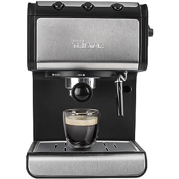 Tristar CM-2273 Cafetera Espresso, 850 W, 1.4 litros, Negro, Acero inoxidable: Amazon.es: Hogar