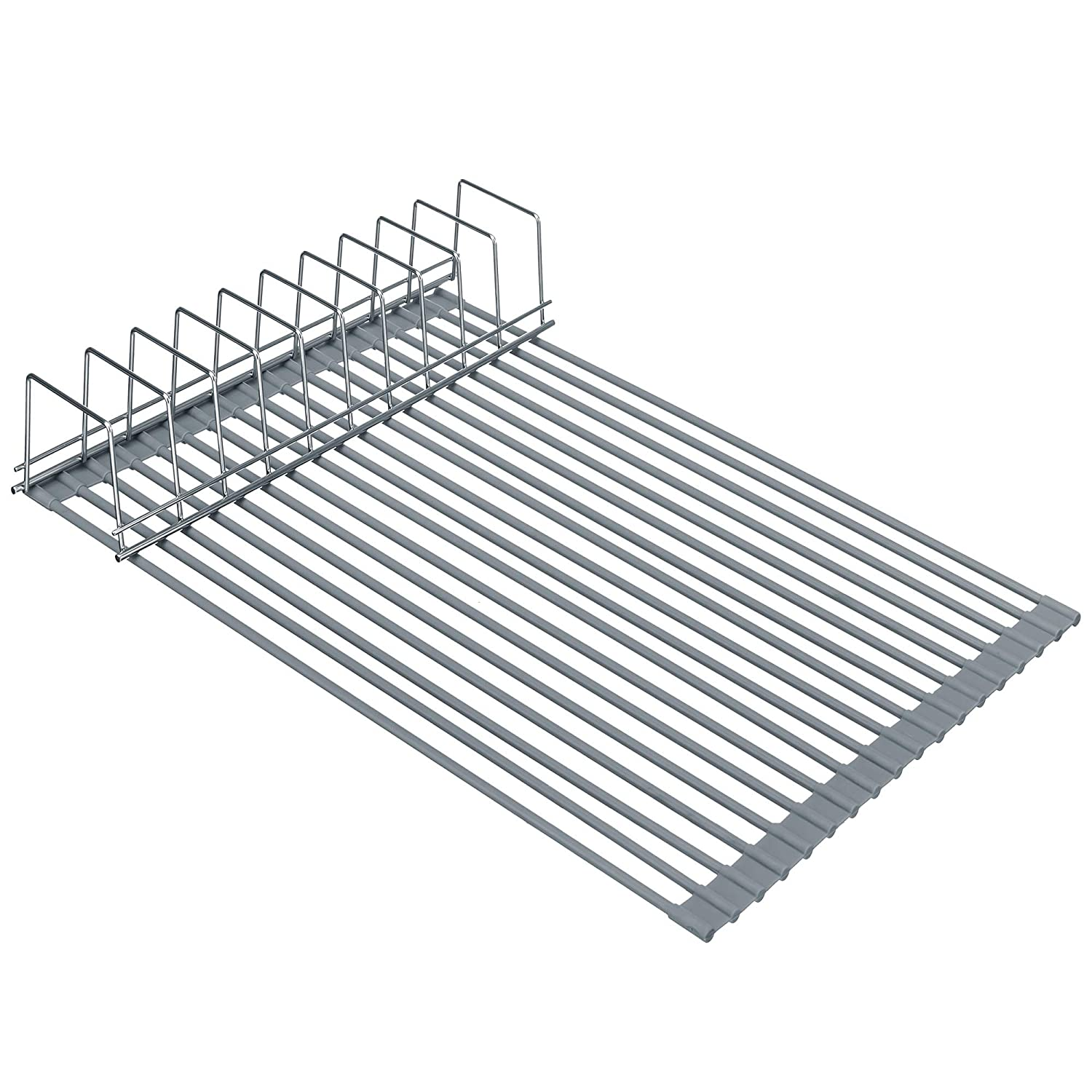 MONOKIT Over Sink Dish Drying Rack Roll Up Large 20.47 Inch, Kitchen Sink Drainer Rack for Cups Fruits Vegetables