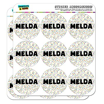 Melda name planner calendar scrapbooking crafting stickers multicolored speckles 18 2 clear