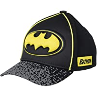 DC Comics Little Boys Assorted Superhero Designs 3D Pop Cotton Baseball Cap, Age 2-7