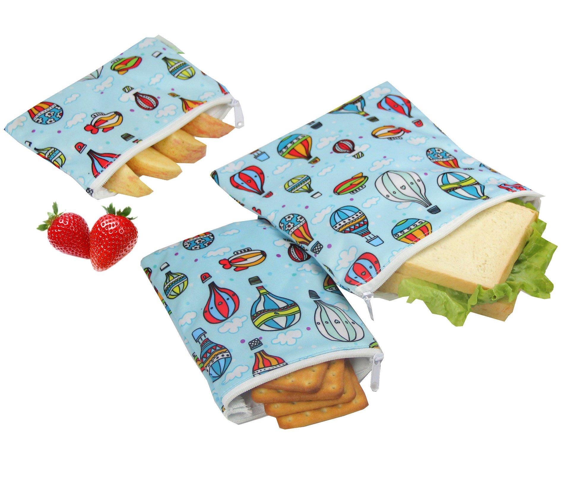 Wegreeco Reusable Snack Bags, (Set of 3) - Balloon