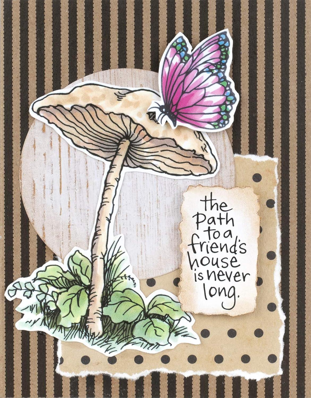 Stampendous QS5021 Little Mushroom Cling Stamp Set,