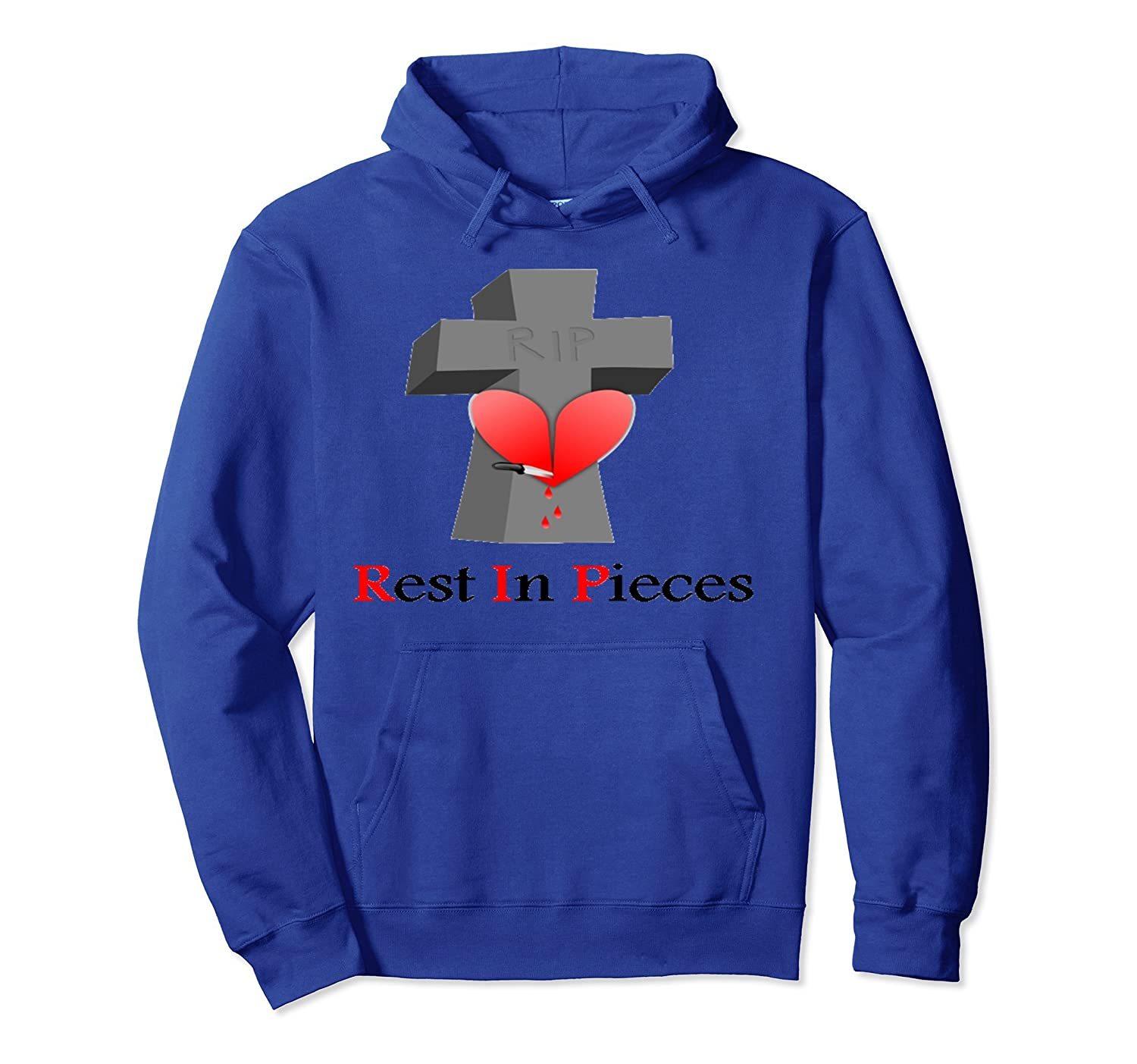 Knife in the Heart Rest in Pieces Hoodie-ln