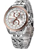 Curren Luxury Analogue White Dial Men Watch (CUR018)
