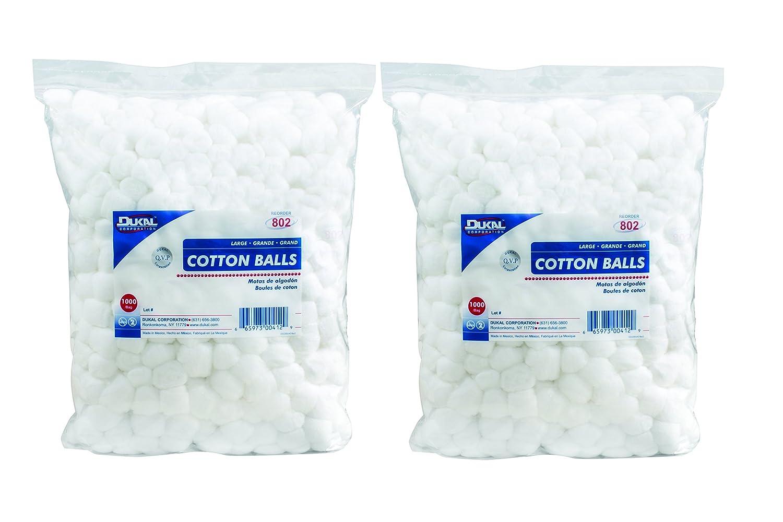 Dukal 802 Cotton Balls, Non Sterile, Large (Pack of 2000)