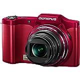 OLYMPUS デジタルカメラ SZ-14 1400万画素 光学24倍ズーム 3Dフォト機能 レッド SZ-14 RED