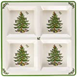 Spode Christmas Tree Melamine 4 Section Tray