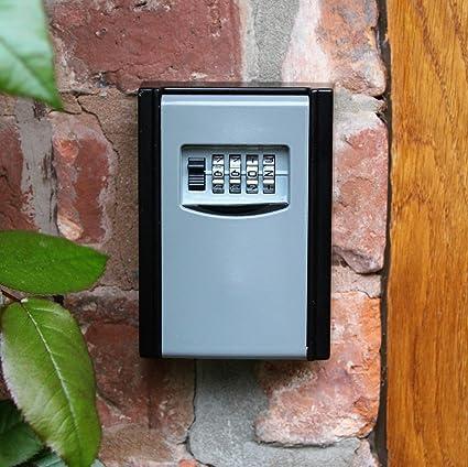 a27b81124713 Caja fuerte para llaves con código numérico para montaje en pared en  interiores y exteriores