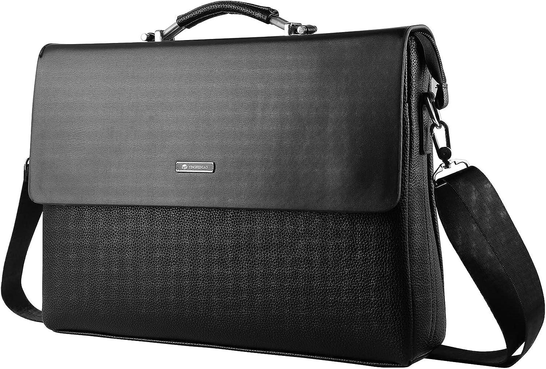 Mens 13.3 14 Inch Laptop Briefcase Leather Shoulder Bag for Dell XPS 13 Latitude 9410 7410 5410 5310 Inspiron 13 Vostro 14