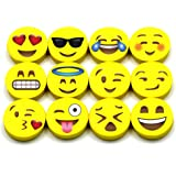Emoji Pencil Erasers 120-Pack - LiveEco Emoji Party Supplies are Great as Classroom Prizes, Birthday Party Favors and more - Kids Favorite Emoji Faces - Child Safe, BPA & Latex Free