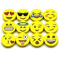 Borrador con diseño de emoji, muy bonitos, divertidos y funcionales, ideales como regalo para niños, incentivos, premios, recuerdos de fiestas, premios en el aula y suministros escolares, borrado muy bueno, seguro para los niños, sin BPA