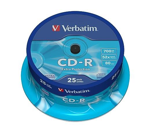 248 opinioni per Verbatim CD-R 80 700MB- Confezione da 25