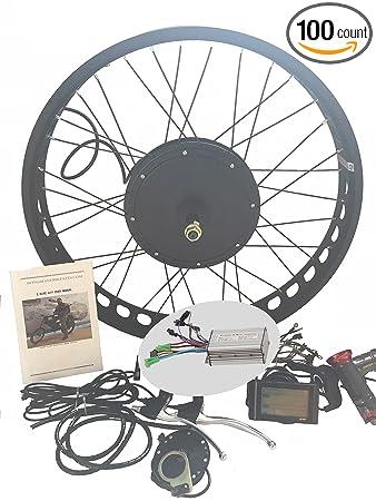 theebikemotor 48V1000W Hub Motor Electric Bike Conversion Kit Sine-Wave  Controller 4 0 Fat Wheel 80mm + LCD