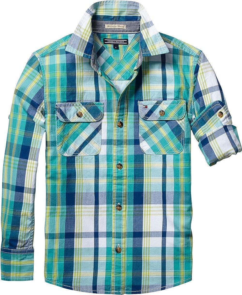 Tommy Hilfiger - Camisa - para niño Multicolor 8 años: Amazon.es: Ropa y accesorios