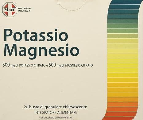 Matt Divisione Pharma Potassio E Magnesio Integratore Di Sali Minerali Per Stanchezza E Sport 20 Buste 200 Gr Amazon It Salute E Cura Della Persona