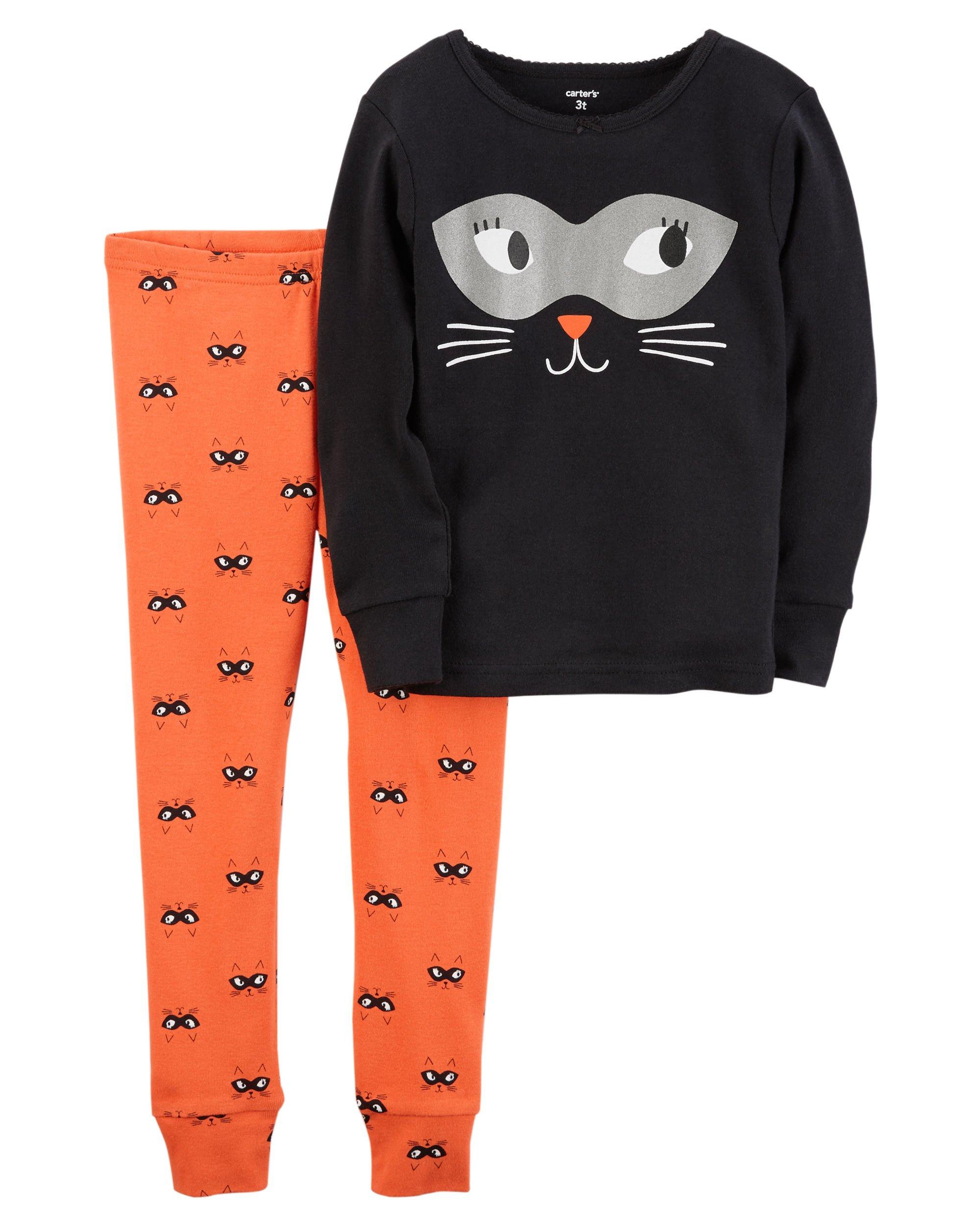 Carter's Girls' 2T-8 2 Piece Snug Fit Cotton Halloween PJS 5