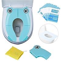 Riduttore WC per bambini Viaggia portatile Pieghevole Riutilizzabili sedile Potty Training Con: sedile del water usa e getta 10 PCS
