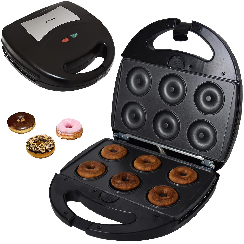 Syntrox Germany Acciaio inox Maker donutmaker Chef Maker SM F-1300W Donut con piastra posteriore rimovibile
