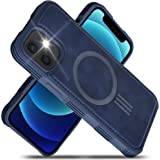 """Migeec PU Leather Cases Compatible with iPhone 12 Mini (2020) 5.4"""" Mag-Safe Charging Reinforced Shockproof Slim Hybrid Case f"""