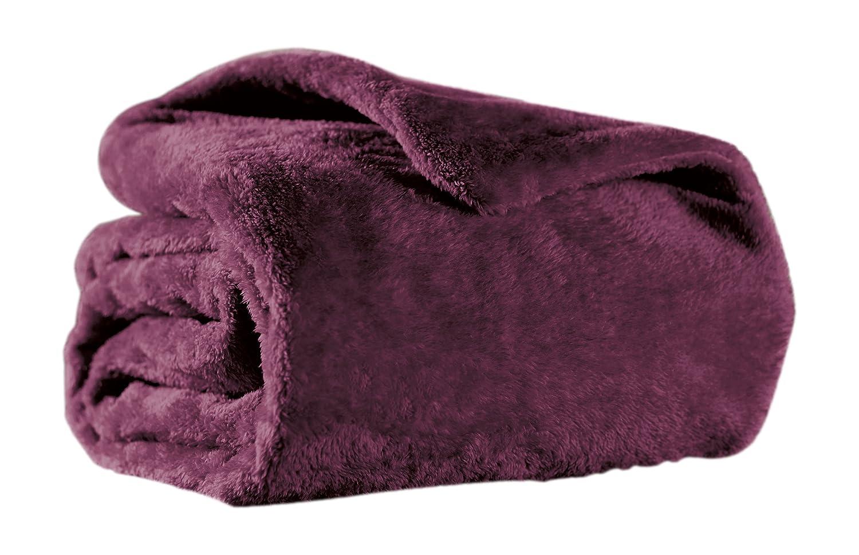 Sunbeam Heated Throw Blanket | Arctic Plush, 3 Heat Settings, Eggplant - TSA8TS-X402-13A00