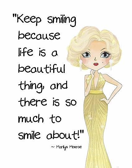 Amazon Pop Art Print Marilyn Monroe Beautyfashion Quote