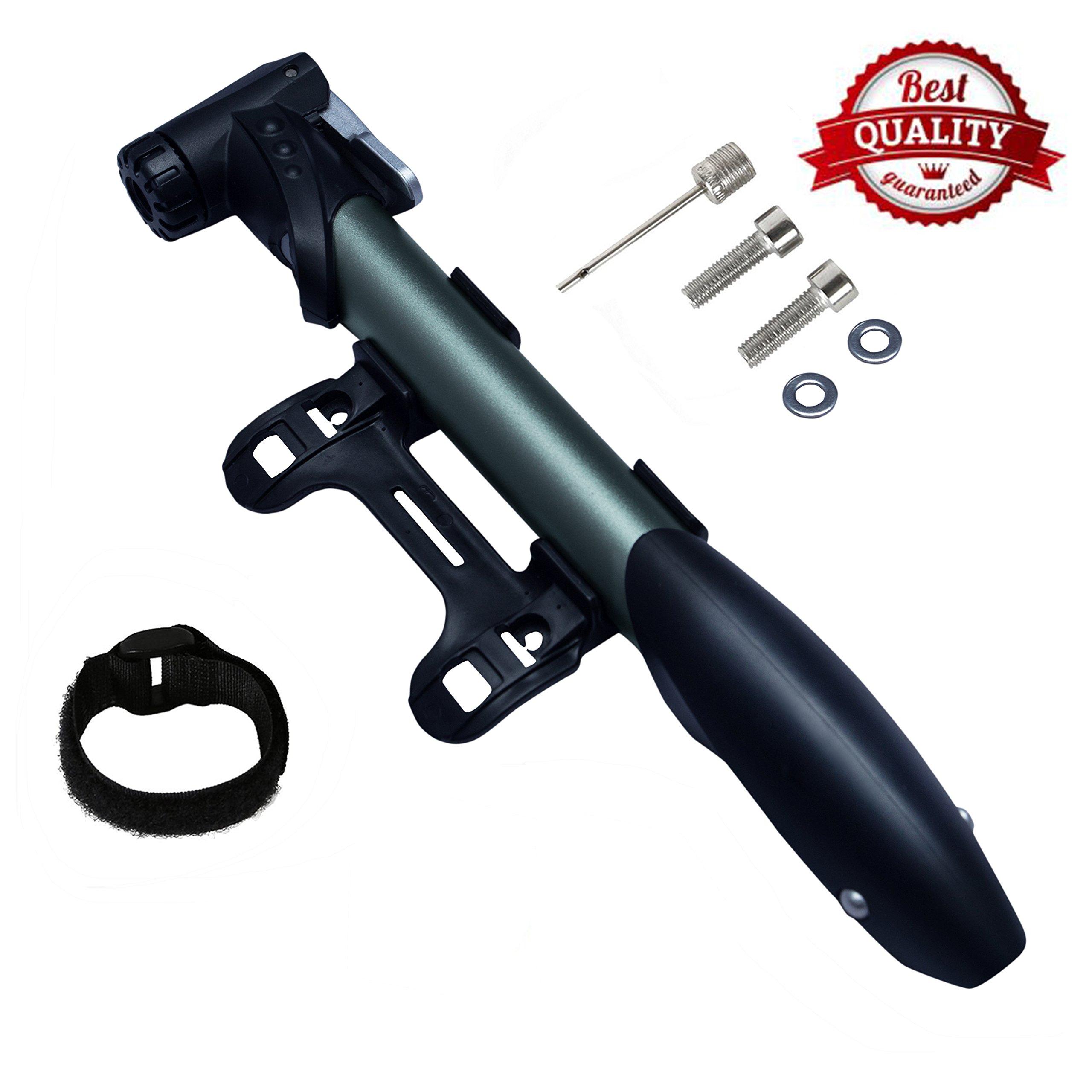 Premium Mini Bike Pump,Mountain Bike Pump,Bike Tire Pump,Bike Pump Kids,High Pressure 120 PSI, Bicycle Pump Portable, Presta & Schrader Bike Valve Adapter,Sports Needle Included