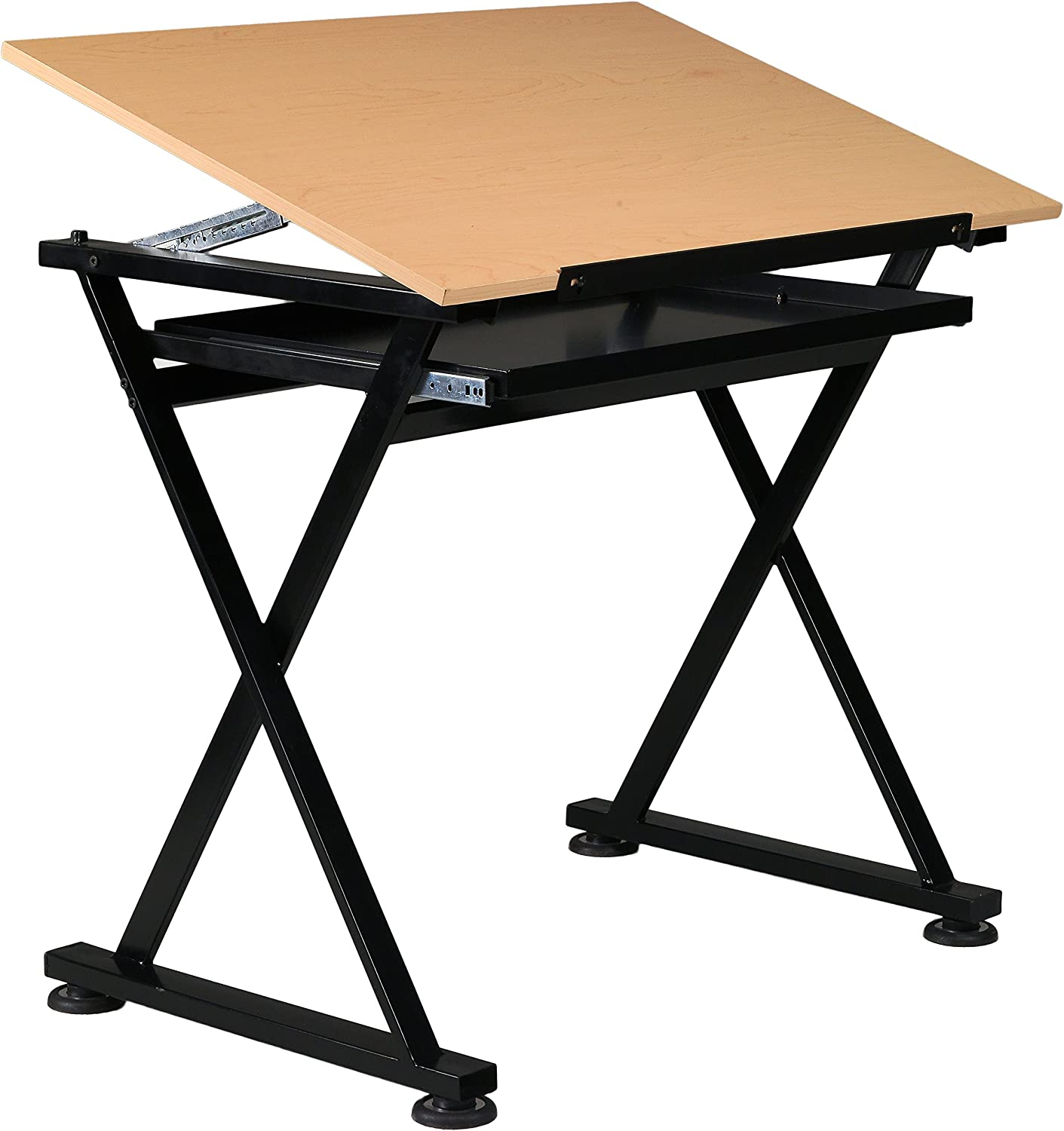 U-DS40B Martin Smart Drawing and Craft Table 1 Each Black with 35.5 W x 23.5 D Birchwood Melamine Top