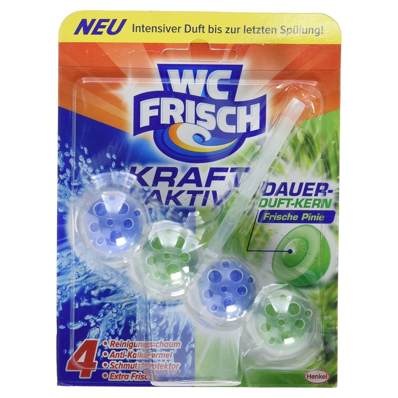 WC Frisch Kraft-Aktiv Duftspüler Frische Pinie Paket, 50 g: Amazon ...