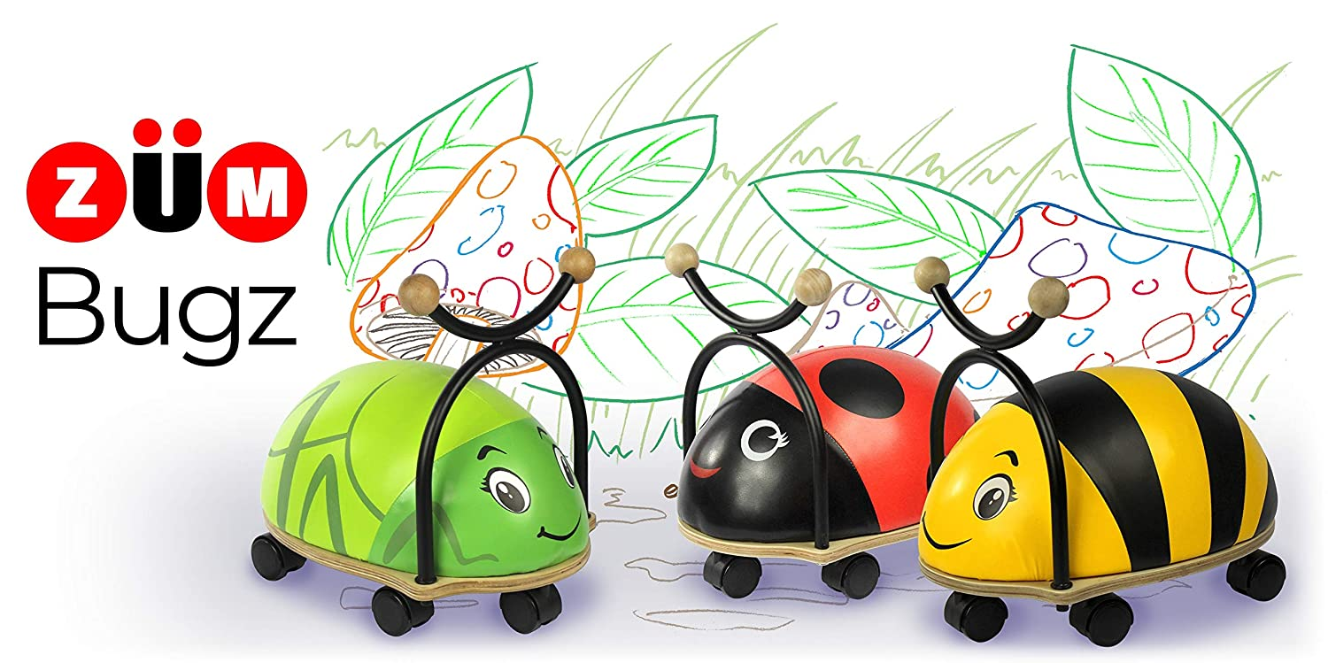 Ride-On Toy Sitting Scooter For Toddlers 1 year old to 3 years old Z/ÜM Bugz Grasshopper 17 long Bright Water Industries 2075-ZUM-Bugz Grasshopper 17 long Sitting Scooter For Toddlers 1 year old to 3 years old