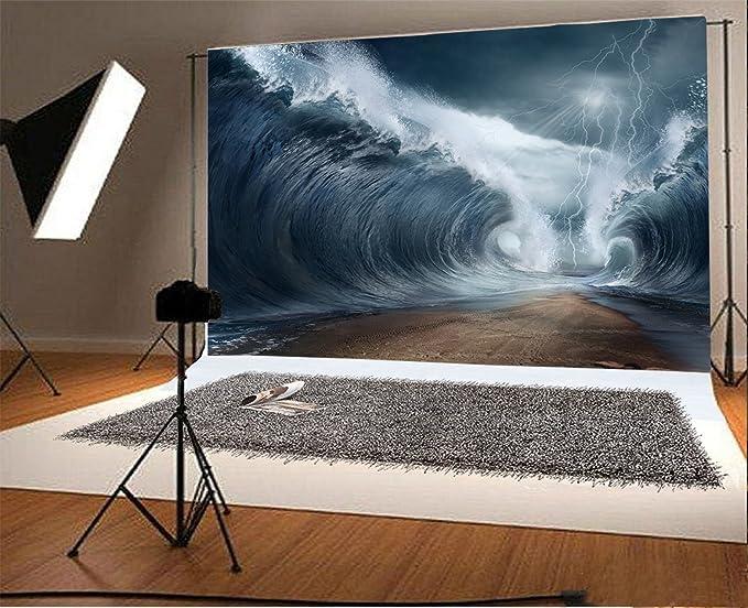 Ofila 7 X 150 Vinyl Fotografie Tsunami Hintergrund Kamera