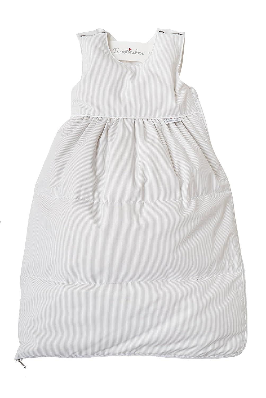 """Tavolinchen Babyschlafsack Daunenschlafsack """"Visconte Streifen  Kinderschlafsack – hellgrau – Gr.90"""