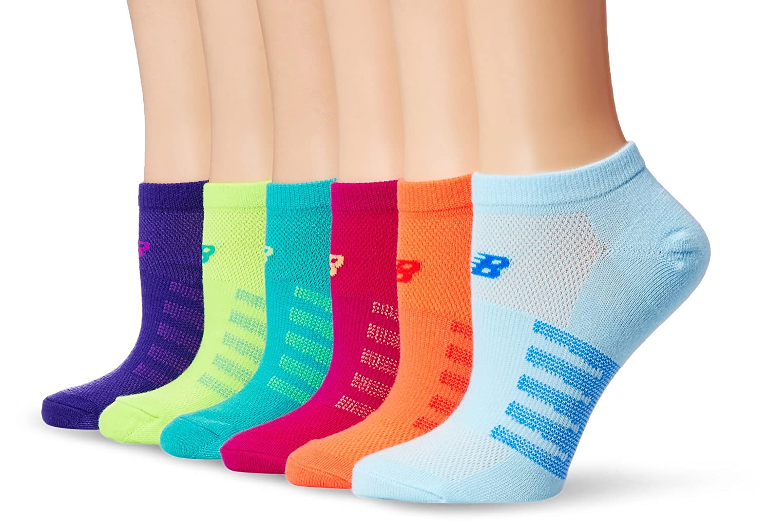 New Balance Womens Arch Support No Show Socks 6 Pack