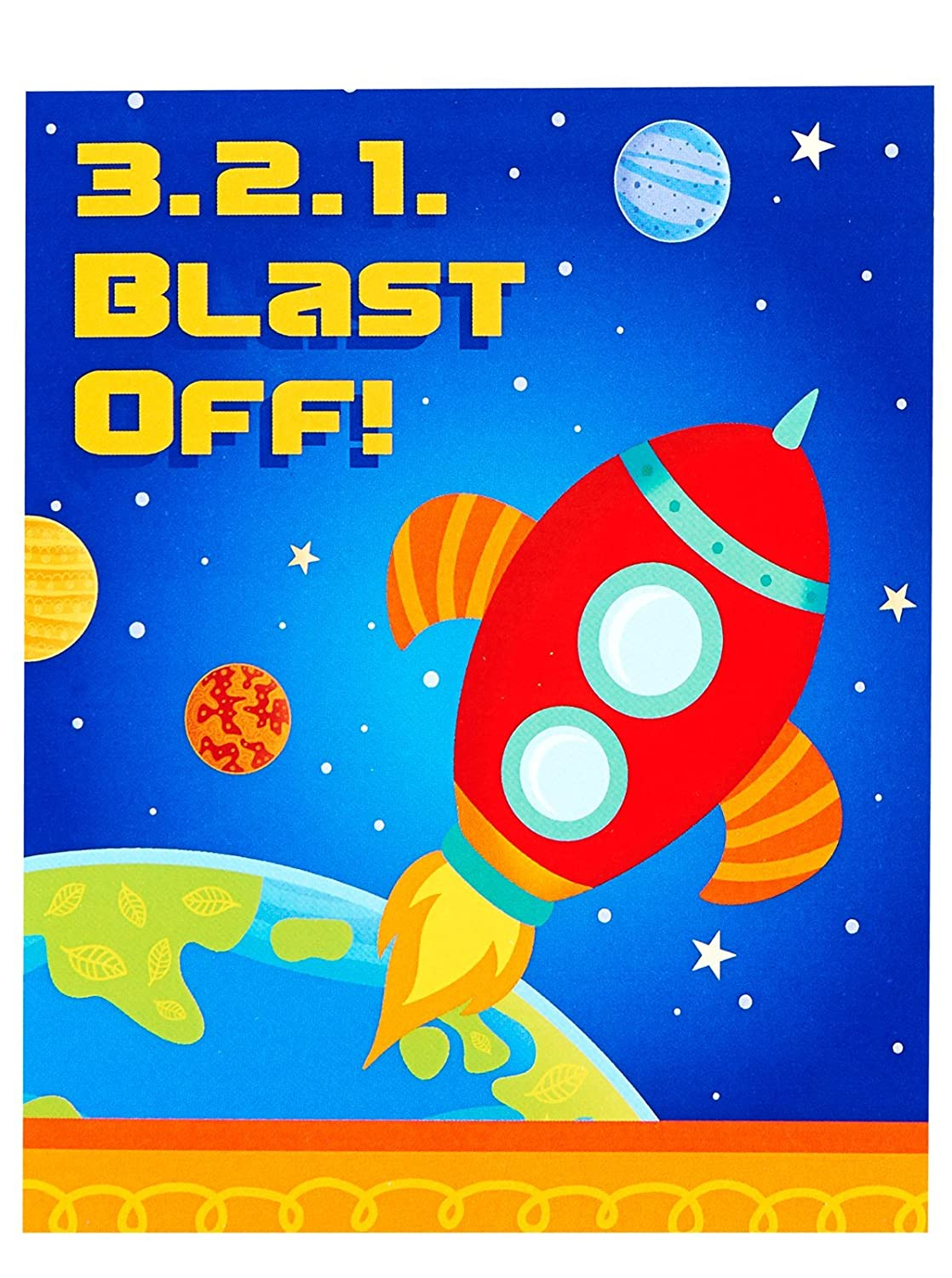 Amazon.com: Solar System Rocket to Space Astronaut Party Supplies ...