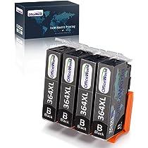 OfficeWorld Cartuchos de tinta para HP 364 364XL, HP Photosmart 5510 5520 5522 6520 B8550 C5388, HP Officejet 4620, HP Deskjet 3070A 4 Negro