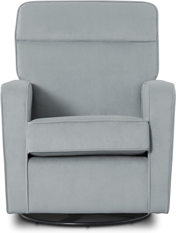 Delta Children Willow Glider Swivel Rocker Chair Featuring LiveSmart Fabric by Culp, Mist Grey Blue