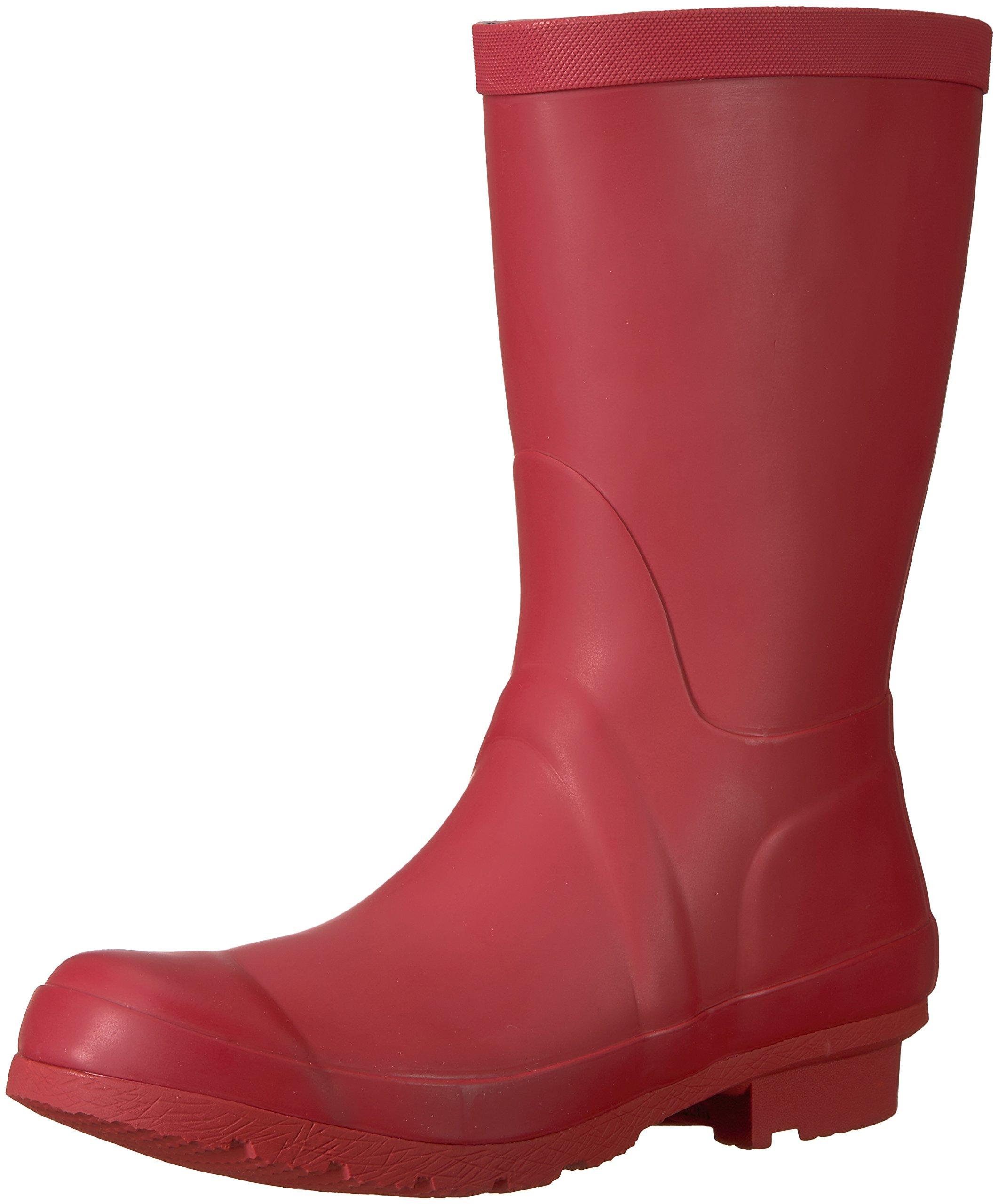 206 Collective Women's Linden Mid Rain Boot, Burgundy, 8 B US
