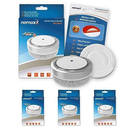 Nemaxx M1NX - Mini detector de humo – sensibles, color plateado