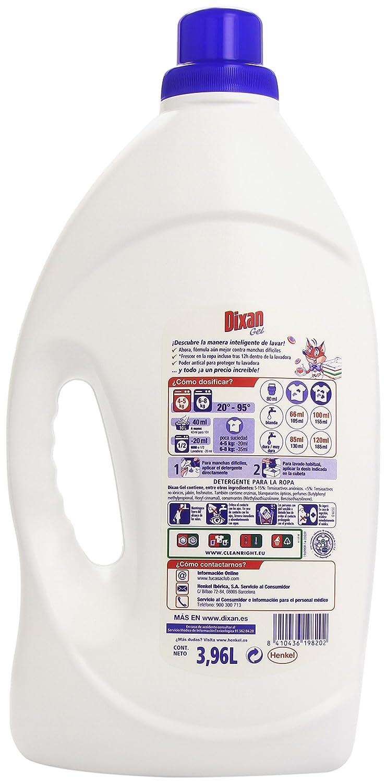 Dixan Gel 60d Detergente En Gel 3l96 Amazon Es Alimentaci N  ~ Mejor Detergente Lavadora Calidad Precio