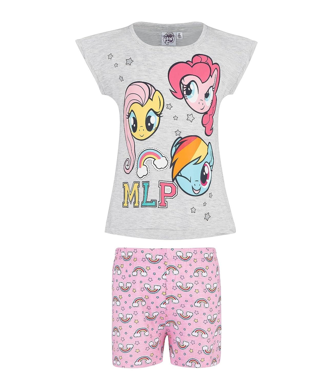 Hasbro My Little Pony Ragazze Pigiama maniche corte grigio