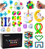 Sensory Toys Set, Stress Relief Fidget Toys Pack for Adults Kids, Party Toys, Birthday Party Favors, Pinata Fillers…