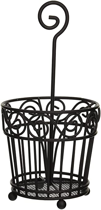 spectrum diversified scroll silverware caddy black