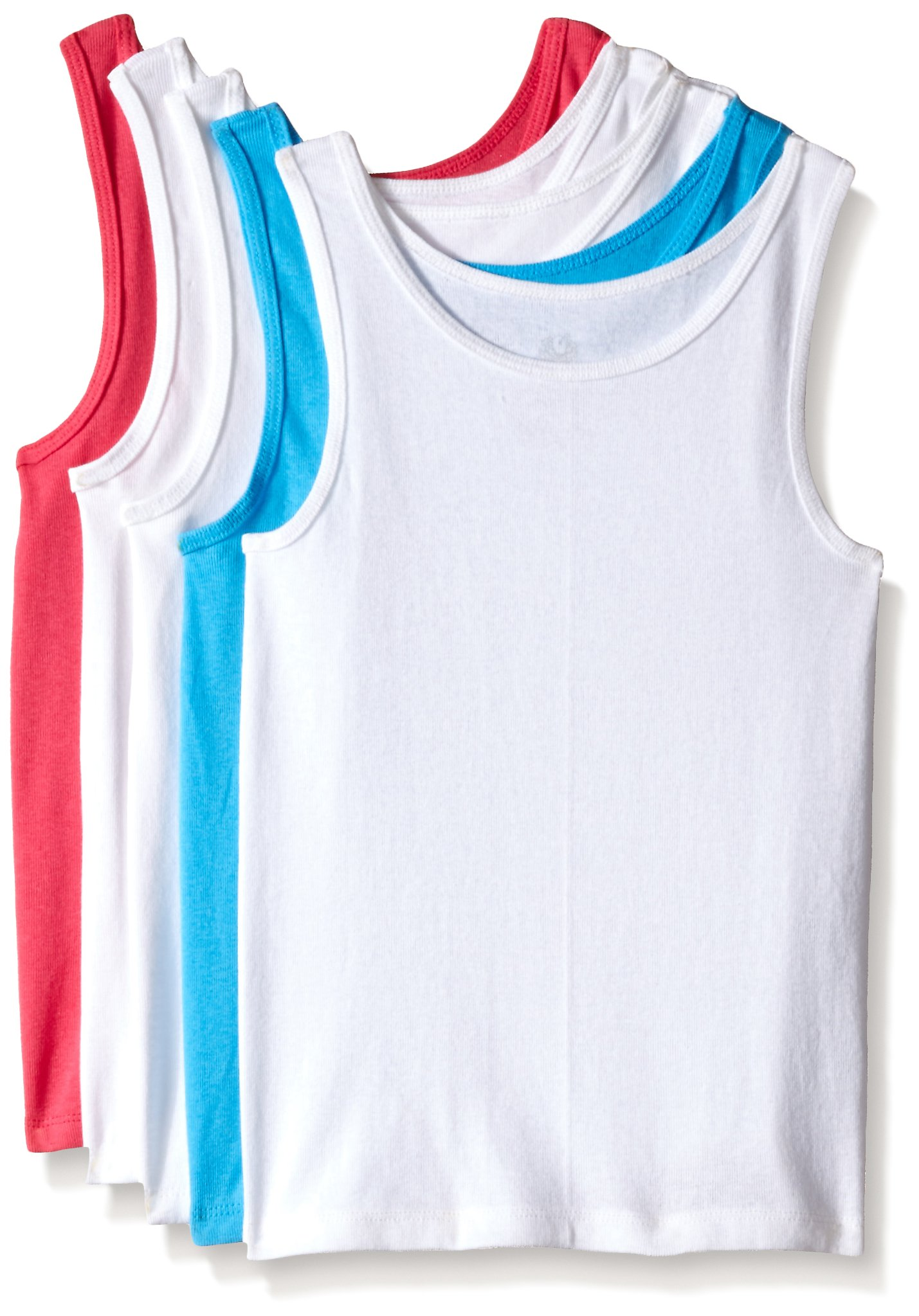 Fruit of the Loom Big Girls' Assorted Tank (Pack of 5)