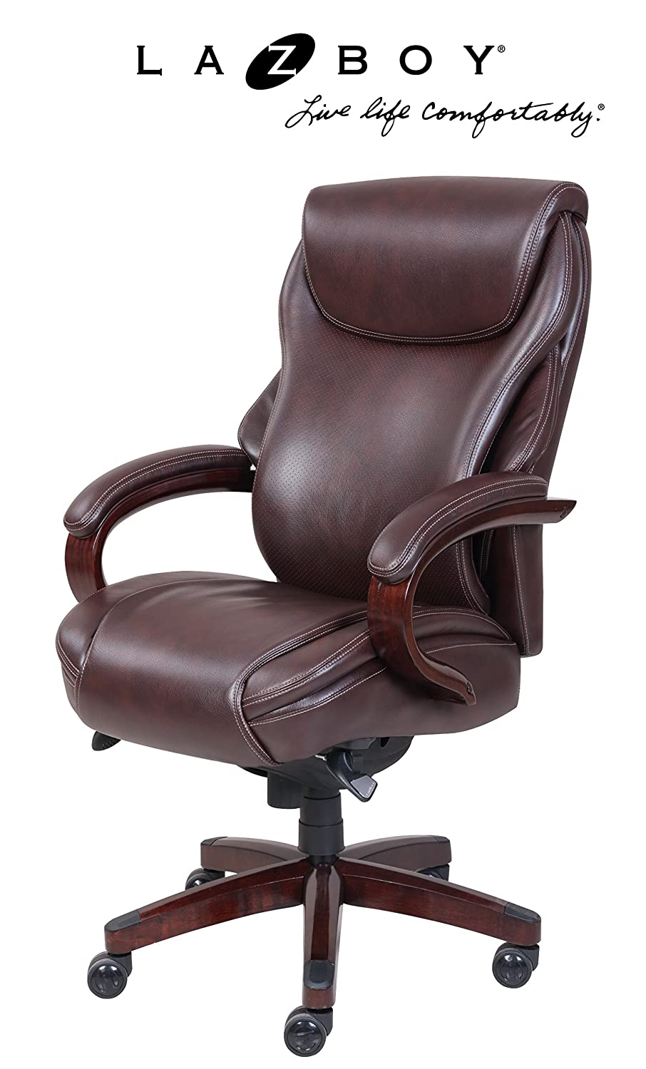 Amazon.com: La Z Boy Hyland Executive Bonded Leather Office Chair: Kitchen  U0026 Dining