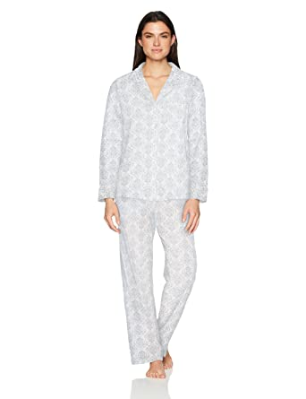 Carole Hochman Women s Notch Collar Pajama Set at Amazon Women s Clothing  store  5de08dee2